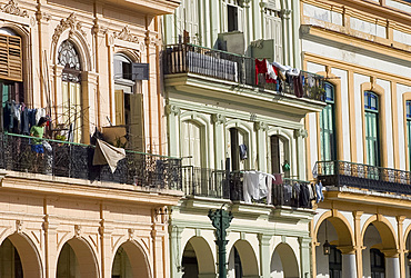 Restored buildings along the Paseo de Marti in central Havana, Cuba, West Indies, Central America
