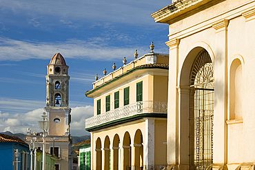 Iglesia y Covento de San Francisco and the Palacio Brunet, now Museo Romanitico, Trinidad, UNESCO World Heritage Site, Cuba, West Indies, Central America