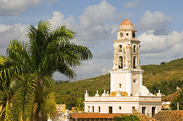 The belltower of Iglesia y Covento de San Francisco, Trinidad, UNESCO World Heritage Site, Cuba, West Indies, Central America