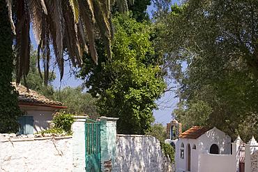 A small church in Dendiatika, Paxos, Ionian Islands, Greek Islands, Greece, Europe