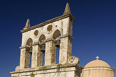 The church of the Dormition of the Virgin Mary in Kyrianna not far from the Arkadhi Monastery, Crete, Greek Islands, Greece, Europe