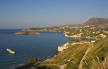 A view of the northern coast of Crete near Almiridia, Crete, Greek Islands, Greece, Europe