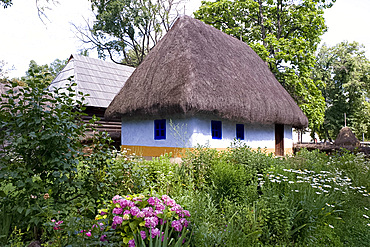 Traditional rural buildings in the open air Village and Folk Art Museum, Bucharest, Romania, Europe