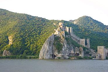 Golubac Castle in the Iron Gates region of the Danube River, Serbia, Europe