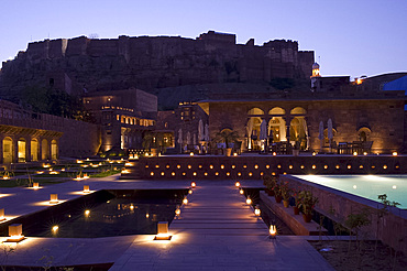 The Raas Hotel below the Mehrangarh Fort, Jodhpur, Rajasthan, India, Asia