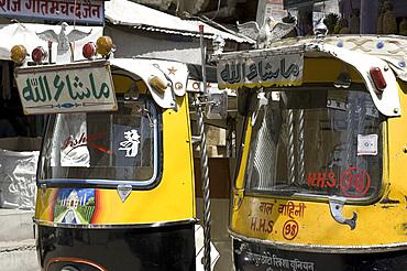 Auto rickshaws in Jodhpur, Rajasthan, India, Asia