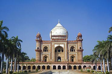 The ornate facade of Safarang's Tomb in New Delhi, India, Asia