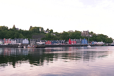 The harbor at Tobermory on the Isle of Mull, Inner Hebrides, Scotland, United Kingdom, Europe