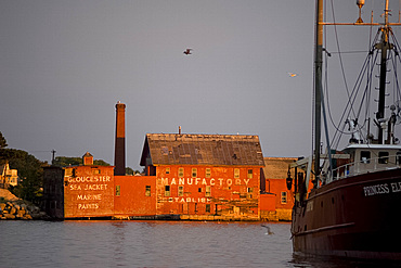 The old paint factory building in Gloucester Harbor, Massachusetts, New England, United States of America, North America