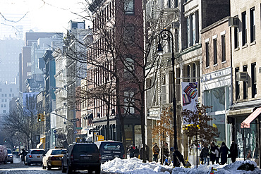 Shoppers in the Soho area of New York City, New York State, United States of America, North America