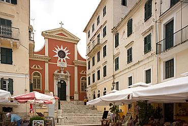 The Panaga Spillitsa Cathedral in Corfu Old Town, Corfu, The Ionian Islands, Greek Islands, Greece, Europe