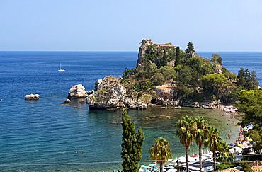 Isola Bella in Taormina, Sicily, Italy, Mediterranean, Europe