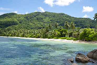 Anse Marie-Louise on the southeast coast of Mahe, Seychelles, Indian Ocean, Africa