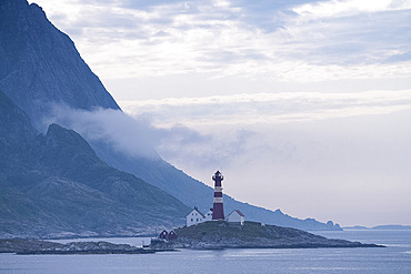 The Landegode lighthouse near Bodo on the north west coast of Norway, Scandinavia, Europe