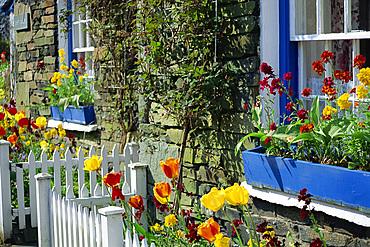 Old stone house, Troutbeck, Cumbria, England, United Kingdom, Europe