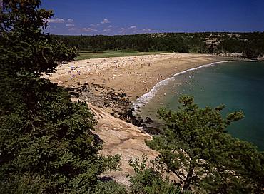 Sand Beach, Mount Desert Island, Acadia National Park, Maine, New England, United States of America, North America