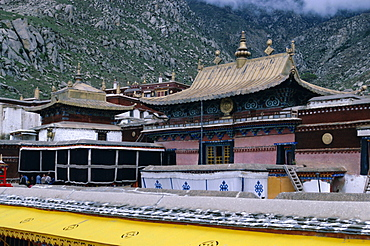 Upper halls at Drepung monastery, Lhasa, Tibet, China, Asia