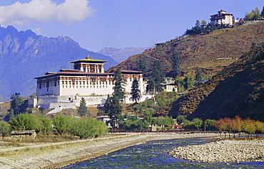 Dzong (monastery), Paro, Bhutan, Himalayas, Asia