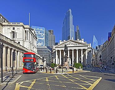 Royal Exchange Building, City of London, London, England, United Kingdom, Europe