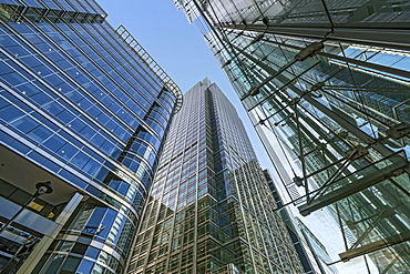 20 Canada Square McGraw Hill building, Citibank Tower and Canada Place Shopping Centre, Docklands, London, England, United Kingdom, Europe