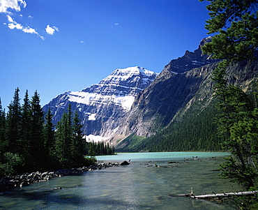 Mount Edith Cavell, Jasper National Park, UNESCO World Heritage Site, Rocky Mountains, Alberta, Canada, North America