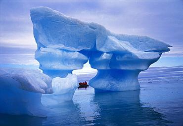 Sculpted Iceberg, Spitsbergen, Svalbard Archipelago, Norway, Scandinavia, Europe