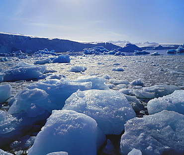 Floating Ice on Antartica