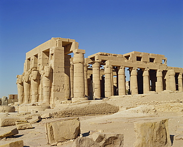 Temple of Ramesseum, West Thebes, UNESCO World Heritage Site, Egypt, North Africa, Africa
