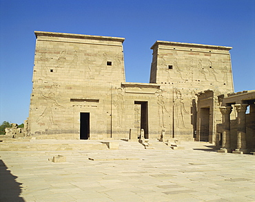 Temple of Isis, Philae, UNESCO World Heritage Site, Agilka, near Aswan, Egypt, North Africa, Africa