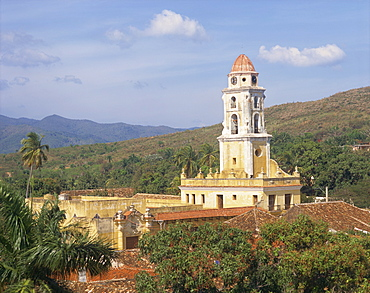 Tower of the Church and Convent of St. Francis of Assisi, Trinidad, UNESCO World Heritage Site, Cuba, West Indies, Central America