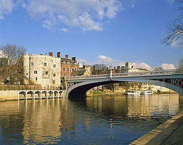 Lendal Bridge over the River Ouse, York, Yorkshire, England, United Kingdom, Europe