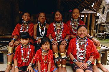 Big ears' Padaung tribe villagers in Nai Soi, Mae Hong Son Province, Thailand, Asia