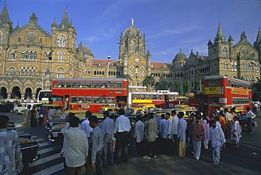 Victoria Railway Terminus (station), Mumbai (Bombay), Maharashtra State, India, Asia