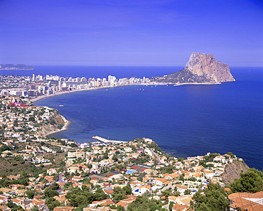 Giant sea rock, Penon de Ifach, Calpe, Costa Blanca, Valencia, Spain, Europe