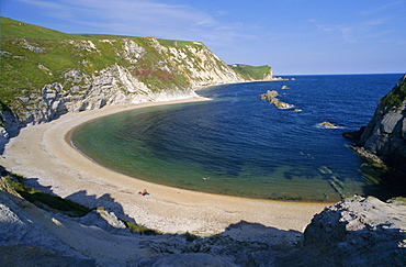 Man O'War Cove, between Lulworth Cove and Durdle Door, Dorset, England, UK, Europe