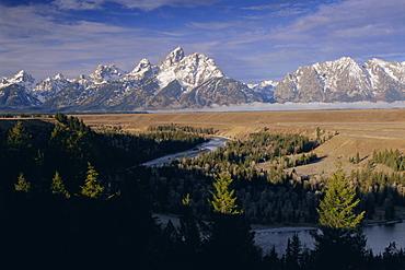 Snake River and the Tetons, Grand Teton National Park, Wyoming, USA, North America