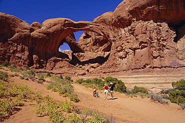 Double Arch, Windows section, Arches National Park, Utah, USA, North America