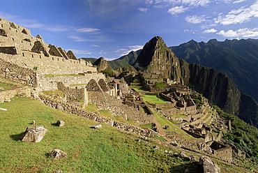 Ruins of Inca city, Machu Picchu, UNESCO World Heritage Site, Urubamba Province, Peru, South America