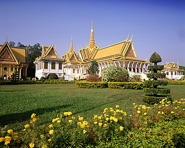 Exterior of the Throne Hall, Royal Palace, Phnom Penh, Cambodia, Indochina, Southeast Asia, Asia