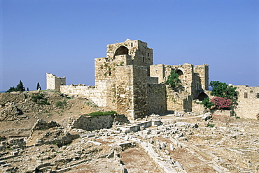 Crusader castle, ancient town of Byblos (Jbail), UNESCO World Heritage Site, Mount Lebanon District, Lebanon, Middle East