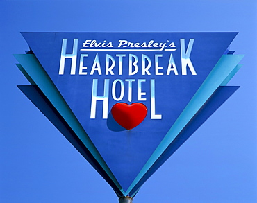 Elvis Presley's Heartbreak Hotel sign, Memphis, Tennessee, United States of America, North America
