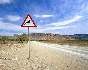 Road leading towards the Naukluft mountains, Namibia, Africa