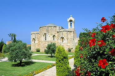 Church of St. John the Baptist, ancient town of Byblos (Jbail), Mount Lebanon district, Lebanon, Middle East
