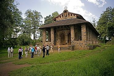 Trinity of the Mount of Light, UNESCO World Hetitage Site, Debre Berhan Selassie Church, Gonder, Ethiopia, Africa