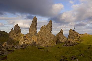 The Old Man of Storr, The Storr, Isle of Skye, Inner Hebrides, west coast, Scotland, United Kingdom, Europe