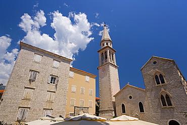 Catholic church of St. Ivan, Stari Grad (Old Town), Budva, Montenegro, Balkans, Europe
