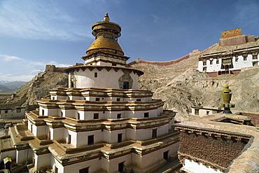 The Pango chorten at Gyantse in Tibet, China, Asia