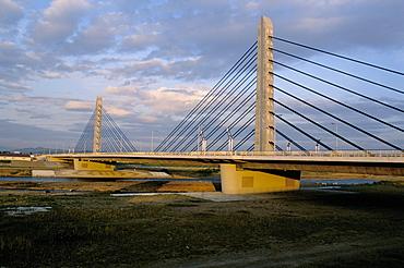 Twin Harp bridge, Asahikawa City, Hokkaido, Japan, Asia