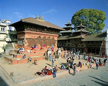 Shiva-Parvati Temple, Durbar Square, Kathmandu, Nepal, Asia