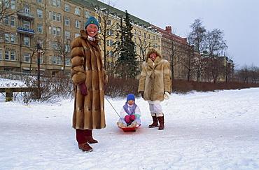 Helsinki in winter, Finland, Scandinavia, Europe